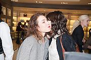 NOOMI RAPACE; BELLA FREUD;  Smythson Sloane St. Store opening. London. 6 February 2012.