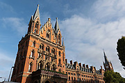 St Pancras Station Hotel on the 9th October 2019 in London in the United Kingdom. St Pancras Station Hotel shares the same building as St Pancras International Train Station.
