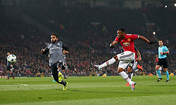 Anthony Martial of Manchester United fires a shot at goal - Mandatory by-line: Matt McNulty/JMP - 31/10/2017 - FOOTBALL - Old Trafford - Manchester, England - Manchester United v Benfica - UEFA Champions League Group A