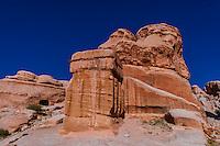 Dijinn Blocks, Bab al Siq, Petra Archaeological Park, Petra, Jordan.