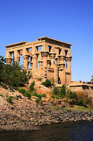 isis philae temple on the river nile in egypt