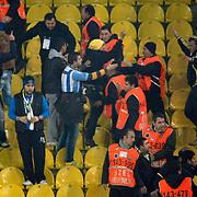 Fenerbahce's supporters during their Turkish superleague soccer derby match Fenerbahce between Besiktas at Sukru Saracaoglu stadium in Istanbul Turkey on Sunday 05 February 2012. Photo by TURKPIX