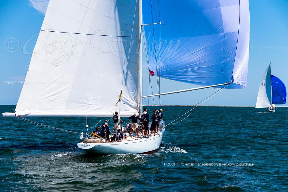 Weatherly sailing in the Nantucket 12 Metre Regatta.
