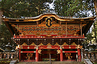29. Futarasan 二荒山神社  Futarasan Shrine is much older than its more lavish neighbor, Toshogu Shrine.  Futarasan was founded in 782 by Shodo Shonin, the Buddhist monk who introduced Buddhism to Nikko and also founded nearby Rinnoji Temple. This is an unusual juxtaposition of Shinto and Buddhism, particularly since they were both founded by a Buddhist monk - presumably to keep his options open.  At the back of the shrine there is a spring of pure holy water, so pure that it is used for making sake.