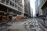 Many ambitious infrastructure projects have been planned for the Olympics Rio 2016. One of these is a tram in the city centre. After many months, the line is still not complete, thoough a section of it has been opened in a small area, there is still work to be done, it is unclear as to whether this and other new trasnport lines will be completed before the games on the 5th August, Rio de Janeiro.