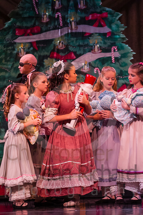Students of the Payne Academy of Performing Arts and Woodlands Ballet Ensemble on stage in the Dress Rehearsal of The Nutcracker.<br /> <br /> November 2016<br /> The Woodlands College Park High School.<br /> The Woodlands, Texas