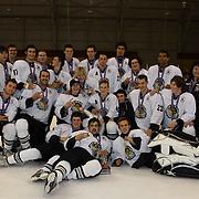 The third placed New Zealand team after the 2012 IIHF Ice Hockey World Championships Division 3 tournament held at Dunedin Ice Stadium. Dunedin, Otago, New Zealand. 22nd January 2012. Photo Tim Clayton