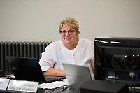 DEU, Deutschland, Germany, Berlin, 10.12.2016: Landesschatzmeisterin Sylvia Müller beim Landesparteitag von Die Linke im WISTA-Veranstaltungszentrum Adlershof.