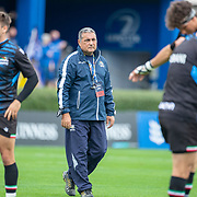 DUBLIN, IRELAND:  October 9:  Michael Bradley, head coach of Zebre, duirng team warm up before the Leinster V Zebre, United Rugby Championship match at RDS Arena on October 9th, 2021 in Dublin, Ireland. (Photo by Tim Clayton/Corbis via Getty Images)
