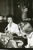 1954 Rita Morino eats at the Hollywood Studio Club