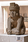 Olmec stone sculptures on display at the Museum of Anthropology in the historic center of Xalapa, Veracruz, Mexico. The Olmec civilization was the earliest known major Mesoamerican civilizations dating roughly from 1500 BCE to about 400 BCE.