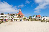 Hotel Del Coronado Beach Scene, Coronado Island, California