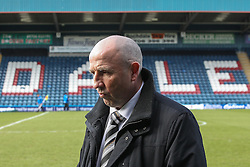 © Licensed to London News Pictures . FILE PICTURE DATED 14/04/2012 . Rochdale , UK . Rochdale FC manager JOHN COLEMAN at the Spotland Stadium on 14th April 2012 as Rochdale today (21st January 2013) announce they have sacked manager John Coleman and his assistant Jimmy Bell . Photo credit : Joel Goodman/LNP