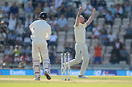 Ben Stokes of England celebrates the wicket of Hardik Pandya of India during the fourth day of the 4th SpecSavers International Test Match 2018 match between England and India at the Ageas Bowl, Southampton, United Kingdom on 2 September 2018.
