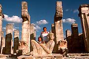 MEXICO, MAYAN, YUCATAN Chichén Itzá; Temple of Warriors, Chac