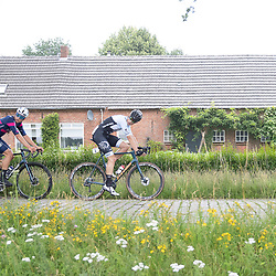 VELDHOVEN (NED) July 4 <br /> CYCLING <br /> The first race of the Schwalbe Topcompetition the Simac Omloop der Kempen<br /> Lars Loohuis ($) <br /> Wessel Krul (32)