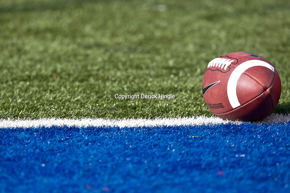 December 4, 2010; Ruston, LA, USA;  A football is seen on the field for a game between the Louisiana Tech Bulldogs and the Nevada Wolf Pack during the first half at Joe Aillet Stadium.  Mandatory Credit: Derick E. Hingle
