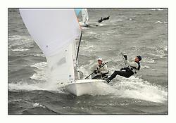 470 Class European Championships Largs - Day 3.Brighter conditions with more wind...SLO64, Tina MRAK, Teja CERNE, Jk Pirat Portoroz