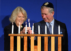 File photo dated 12/12/07 of the Prince of Wales and the Duchess of Cornwall celebrating Chanukah, the Jewish festival of light, in Hendon, London. Charles and Camilla are celebrating their 15th wedding anniversary on Friday, after they were reunited on Monday when the 72-year-old duchess came out of a 14-day self-isolation on the Balmoral estate in Aberdeenshire.