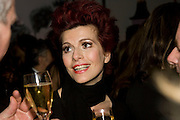 CLEO ROCOS, Book party; Jessica Adams, Maggie Alderson, Imogen Edwards-Jones and Kathy Lette host the launch of 'In Bed With.' Artesian, The Langham, Portland Place. London. 11 February 2009 *** Local Caption *** -DO NOT ARCHIVE-© Copyright Photograph by Dafydd Jones. 248 Clapham Rd. London SW9 0PZ. Tel 0207 820 0771. www.dafjones.com.<br /> CLEO ROCOS, Book party; Jessica Adams, Maggie Alderson, Imogen Edwards-Jones and Kathy Lette host the launch of 'In Bed With.' Artesian, The Langham, Portland Place. London. 11 February 2009