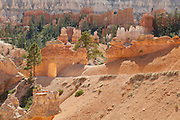 Carved portal on the Peekaboo Loop Trail, in Bryce Canyon National Park, Utah.