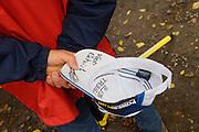 Signed. GVA Trofee cyclocross in the Citadelle at Namur, Belgium. October 2009