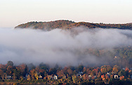 Matamoras, Pa. - Early-morning fog obscures part of Matamoras, Pa., near the Delaware River on Oct. 14, 2006. ©Tom Bushey