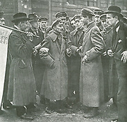 Revolution in Germany, 1918-1919. A typical discussion on the streets between civilians and soldiers.