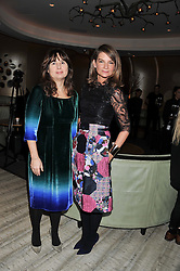 Left to right, ALEXANDRA SHULMAN and NATALIE MASSENET at the Designer Fashion Fund Award hosted by The British Fashion Council and Vogue at Nobu Berkeley, 15 Berkeley Street, London on 29th January 2013.