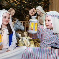 Niamh Meskill playing the part of 'Mary' and Callum Currid a 'shepherd' in the 2018 Barefield Christmas Nativity which was held in Barefield Church on Sunday evening