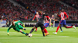 Arsenal's Alexandre Lacazette makes an attempt at goal during the UEFA Europa League, Semi Final, Second Leg at Wanda Metropolitano, Madrid.