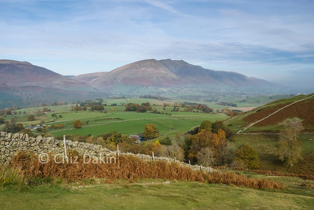 There's a beautiful view back towards Blencathra as you rise up towards Walla Crag