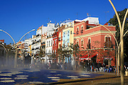 Spain, Andalusia, seville, A colorfull pedestrian mall