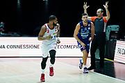 Joshua Bostic<br /> UnaHotels Reggio Emilia Happy Casa Brindisi<br /> Legabasket Serie A UnipolSAI 2020/2021<br /> Bologna, 11/10/2020<br /> Foto A.Giberti / Ciamillo-Castoria