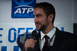November 9, 2017 - London, England, United Kingdom - Marin Cilic of Croatia talk at The Official Launch for ATP Finals, held at the Tower of London prior to the start of ATP World Tour Finals Tennis at O2 Arena, London on November 9, 2017. (Credit Image: © Alberto Pezzali/NurPhoto via ZUMA Press)