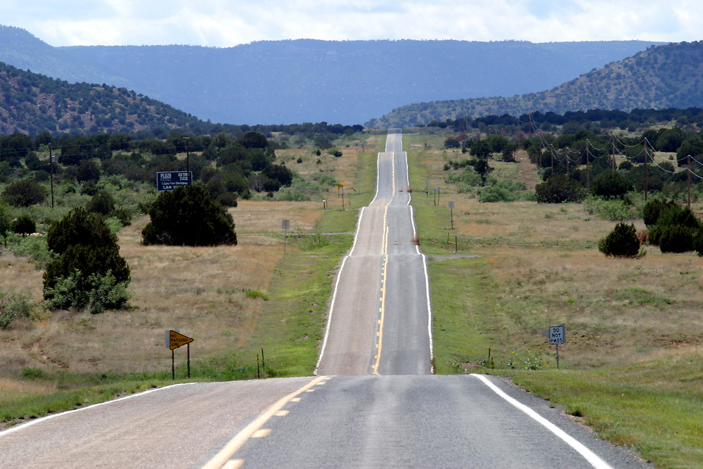 Part of route 66, between Texas and New Mexico, USA.