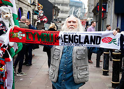 A street vendor outside of the stadium<br /> <br /> Photographer Simon King/Replay Images<br /> <br /> Six Nations Round 3 - Wales v England - Saturday 23rd February 2019 - Principality Stadium - Cardiff<br /> <br /> World Copyright © Replay Images . All rights reserved. info@replayimages.co.uk - http://replayimages.co.uk