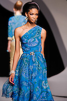 Chanel Iman walks the runway  at the Christian Dior Cruise Collection 2008 Fashion Show