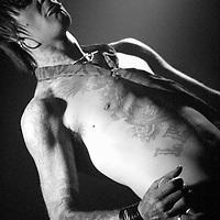 Tommy X lead singer of Enemy Rose performing live at Cabaret Voltaire, Edinburgh, Scotland 27 September 2007