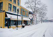 Feb 10,2010 - Herndon, Va USA - Snow in deserted historic Herndon, Virginia on Wednesday. (Credit Image: ©Pete Marovich/ZUMA Press)