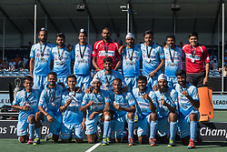 the players of India during the Champions Trophy finale between the Australia and India on the fields of BH&BC Breda on Juli 1, 2018 in Breda, the Netherlands.