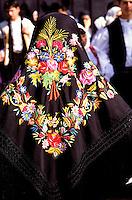 Italie, Sardaigne, Province de Sassari, Cavalcata Sarda, Défilé en costume regional