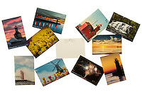 10-Pack of postcards featuring scenes from around Michigan including South Haven, St. Joseph, Holland and Bond Falls.  They are printed on heavy card stock have a satin UV protective finish.
