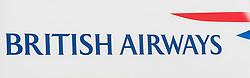 THEMENBILD - das Logo der Fluggesellschaft British Airways am Flughafen Innsbruck, Österreich, aufgenommen am 09.07.2015 // the logo of the Britisch Airways airline at Innsbruck Airport, Austria on 2015/07/09. EXPA Pictures © 2015, PhotoCredit: EXPA/ Jakob Gruber