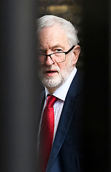 © Licensed to London News Pictures. 25/03/2019. London, UK. Labour Party leader JEREMY CORBYN is seen at the Houses of Parliament, before a meeting with Prime Minster Theresa May. There have been reports of a cabinet revolt against Prime Minister Theresa May, over her handing of the Brexit negotiations.  Photo credit: Ben Cawthra/LNP