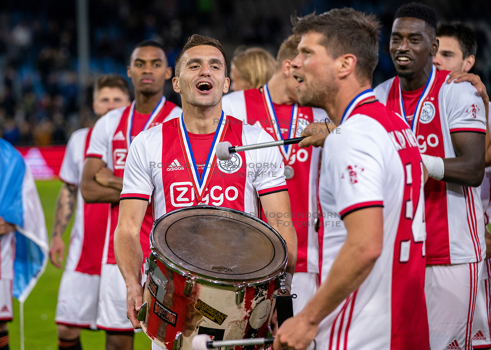 15-05-2019 NED: De Graafschap - Ajax, Doetinchem<br /> Round 34 / It wasn't really exciting anymore, but after the match against De Graafschap (1-4) it is official: Ajax is champion of the Netherlands / Dusan Tadic #10 of Ajax, Klaas Jan Huntelaar #9 of Ajax