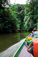Traveling by longboat is the only way to reach Nanga Sumpa Longhouse in Sarawak.