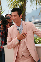 Actor Jun Murakami at the photo call for the film Still The Water (Futatsume No Mado), at the 67th Cannes Film Festival, Tuesday 20th May 2014, Cannes, France.