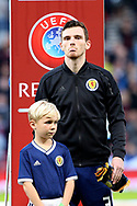 Scotland defender Andrew Robertson (3) (Liverpool) during the UEFA European 2020 Qualifier match between Scotland and Russia at Hampden Park, Glasgow, United Kingdom on 6 September 2019.