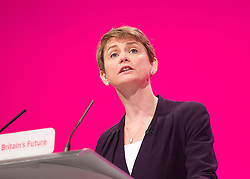Labour Party Conference<br /> at Manchester Central, Manchester, Great Britain <br /> 24th September 2014 <br /> <br /> Yvette Cooper MP <br /> Shadow Home Secretary <br /> Stronger, Safer Communities <br /> <br /> <br /> Photograph by Elliott Franks <br /> Image licensed to Elliott Franks Photography Services